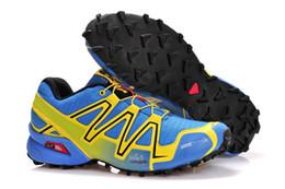 Лучшие продажи Solomon Speedcross 3 CS Кроссовки для мужчин Легкие кроссовки Navy Solomons III Zapatos Водонепроницаемый мужской дизайнер обуви cheap best waterproof sneakers от Поставщики лучшие водонепроницаемые кроссовки