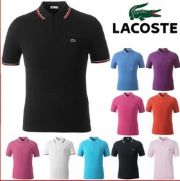 pólo designer homens Desconto Designer de camisas polo homens marca francesa crocodilo bordado logotipo polo camisa dos homens da moda verão respirável polos mens designer polo camisas