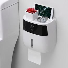 2019 racks de telefone Rolo de papel suporte do telefone móvel toalete de dois andares Toalha caixa de prateleira de papel toalha de papel cremalheira do agregado familiar casa racks de telefone barato