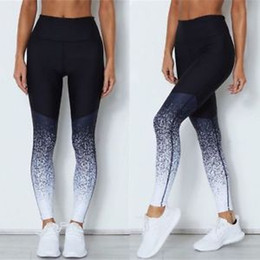 athletic yoga pants Promo Codes - Women's Sports YOGA Workout Gym Fitness Gradient Leggings Pants Athletic Clothes Yoga trousers bottom women's Leggings