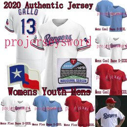 2020 New Season Shin-Soo Choo authentisches Jersey Mike Minor Jose Leclerc Adrian Beltre Nomar Mazara der Frauen Männer Jugend-Baseball-Shirts von Fabrikanten