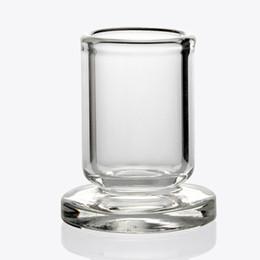 2019 suporte de vidro transparente Suporte de vidro claro do suporte do tampão do carburador do OD 25MM para tampões do carburador da bolha de 25mm 30mm, pérolas de Terp de quartzo suporte de vidro transparente barato