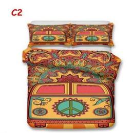 EUA tamanho AU 3 pcs de cama de luxo conjunto de edredão estilo Hippie conjunto de tampa de cama king size de volta à escola capa de edredão conjunto de cama suprimentos 222 de
