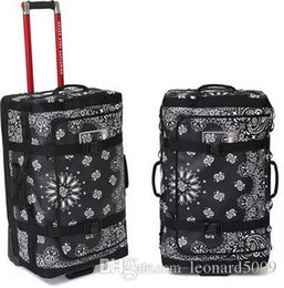 Zeichnen von produkten online-Neueste Sup kooperierte Produkt Bandana Rolling Thunder Bag Koffer Gepäckkoffer Zugstange Box Air Boxes