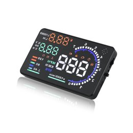 a8 hud Rabatt A8 HUD Kopf Anzeige OBD HD Speed ​​Digitalprojektoren für Automotive General Purpose Auto