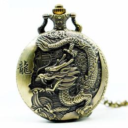 2019 relógios suíços Grande bronze em relevo estilo chinês nostálgico retro grande dragão relógio de bolso desconto relógios suíços
