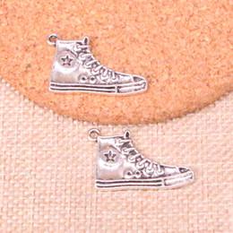 48 шт. Античная посеребренная баскетбольная обувь подвески подвески подходят решений браслет ожерелье ювелирных изделий ювелирные изделия Diy Craft 30 мм cheap shoe 48 от Поставщики ботинок 48