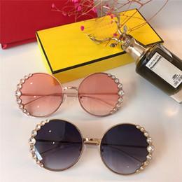 disegni diamanti Sconti nuove donne di moda designer di marca Diamond occhiali da sole 0324 occhiali da sole telaio rotondo moda spettacolo design stile estivo con custodia originale