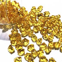 jarrones decorativos de cristal Rebajas 150x Mini acrílico de cristal gema piedra de hielo roca para el partido florero relleno R1 decorativo C19041101