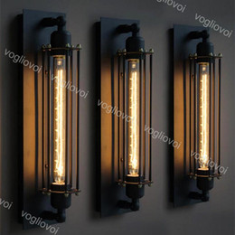 встроенные аварийные фонари Скидка Лофт старинные настенные светильники американский промышленный настенный светильник Edison E27 кровать освещение освещение прихожей освещение украшения освещение DHL