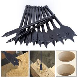 Bit di trapano ad alta altezza di carbonio online-Tools Bit 11Pcs 6-32mm Flat Long High-carbon Acciaio Legno Flat Drill Set Lavorazione del legno Spade Drill Bits Durevole Strumenti per la lavorazione del legno