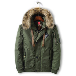 6346a606ea1 MORUANCLE Men Winter Warm Jackets And Coats With Fur Hood Cotton Lined Thick  Thermal Parkas Outerwear For Male Size M-XXXL discount parka fur lined men