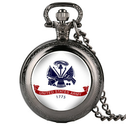 2019 часы United States Army Fobs Mens Pocket Watch Pattern Pocket Watch Arabic Digital Alice in Wonderland Necklace дешево часы