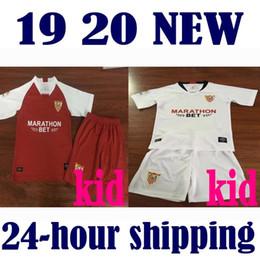 Trajes de fútbol para niños online-19 20 Equipación para niños Traje Camiseta de fútbol 2019 Sevilla fc local visitante tercero NUNCA BANEGA BEN YEDDER GEIS J.NAVAS YEDDER CORREA MURIEL Camiseta de fútbol
