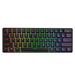 Deutschland GK61 austauschbare 60% RGB Tastatur Customized Kit PCB Montageplatte Gehäuse Gamer Mechanisches Gefühl Tastatur Gaming RGB supplier customized keyboard Versorgung