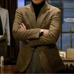 Brown MasculinoFischgrat Maß Mit Nach Mantel Männer Tweed Fischgrätmuster MantelBespoke Herren Herren Mantel Jacke Tweed Großhandel MäntelBlazer UVpqzSM