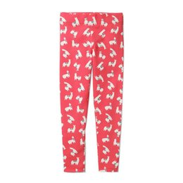 butterfly print leggings Promo Codes - Kids Girl Rabbit Leggings Easter Cildren Tight Trousers Horse Embroidery Flamingo Butterfly Printing Elastic Waist Pants 6