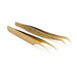 Modelo estático online-El envío gratuito de pestañas de extensión Pinzas antiestáticas de acero inoxidable Juego de herramientas de reparación de mantenimiento Kit de herramientas modelo antiestático