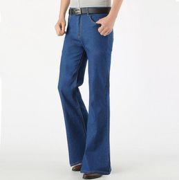Jeans svasati da uomo Thin Summer Retro Nostalgic bootcut Vintage
