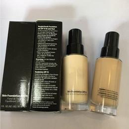2019 porzellanhaut Berühmte Marke Skin Foundation SPF 15 30 ML Makeup Liquid Foundation Gesicht Kosmetik Porzellan Warm lvory Sand Warm Sand Beige Warm Bege günstig porzellanhaut