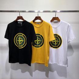 5d3faac587 2019 brand Men's Clothing T-shirt à manches courtes en soie imprimée glace  Europe et Amérique T-shirt tendance en coton à manches courtes lacoste pas  cher