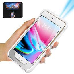 Proiettori telefonici online-Proiettore del telefono G6XS originale 1000 Lumens TV Theater Android WIFI Proiettore DLP LED portatile Pocket HD back clip Beamer per Home Cinema