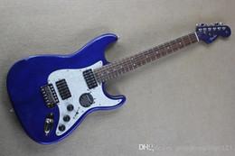 Высочайшее качество Stratocaster Custom Body с синей шеей Палисандровый гриф Электрогитара cheap electric guitar neck rosewood fingerboard от Поставщики электрогитара шея палисандр гриф