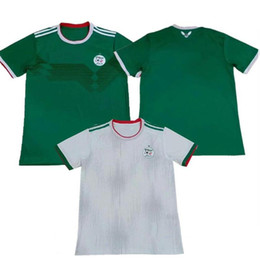 maillots de football de qualité Promotion Maillots de football Algeria TOP QUALITY 2019 Africa Coupe d'Algérie MAHREZ FEGHOULI ATAL BRAHIMI maillots de football 19 20 maillot de foot en Algérie kits enfants
