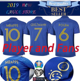 e8091c6aa Long short Sleeve PLAYER France 1919-2019 Special Edition Centenary  Football jersey HENRY 100TH GRIEZMANN MBAPPE POGBA Football Sweat shirt