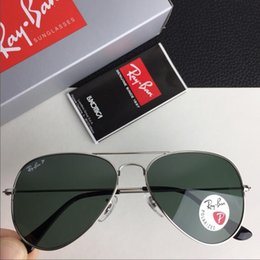 2acfbf3cb2 Nuevo 2019 Aviator Vintage RAY Gafas de sol Piloto Hombre Mujer 58mm 62mm  UV400 Banda polarizada Espejo Lentes de vidrio BEN Gafas de sol BANS con  estuche