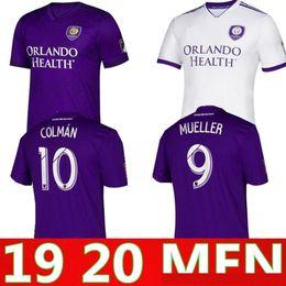 Orlando fußball jersey online-2019 2020 Orlando City Home Fußball-Trikot MUELLER-Fußballhemd Uniformen COLMAN maillot de foot 19 20 orlando camiseta de futebol Kit
