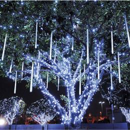 рождественская елка привело трубки Скидка Натал 30 см светодиодный метеоритный дождь Дождь трубки строка огни открытый Рождество домашнего декора Новый год Навидад елочные украшения, q SH190709