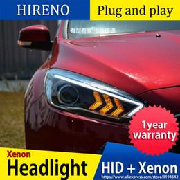 Foco diurno de luces led online-Car Styling faros para Focus 2015-2018 linterna del LED para foco principal de la lámpara LED Daytime Running Light DRL Bi-Xenón HID
