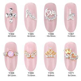 50pcs 3D forniture per unghie artistiche decorazioni oro corona strass nail design lega strass charms accessori per unghie da