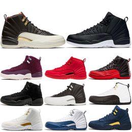 purchase cheap 715b3 3bb05 12s Schwarzes Nylon Winterized WNTR 12 Herren Basketball Schuhe Gym Red  Wings Bulls Französisch Blau Männer Sport Sneakers 7-13 günstig sneakers  flügel ...
