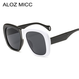 2019 mujeres lentes negros ALOZ MICC Nuevo Cuadrado Gafas de Sol de Mujer  2019 de Gran cb459f43227c