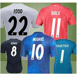 10ccf1c03 EA Sports 18 19 Real Madrid Soccer jersey 2018 2019 third RED Asensio RAMOS  BALE KROOS ISCO Casemiro football shirts Courtois Goalkeeper