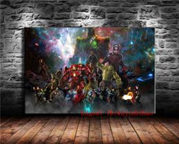 2019 guerres de peinture Avengers Infinity War Uscita, Peinture Sur Toile Salon Décor À La Maison Moderne Peinture Murale Art promotion guerres de peinture