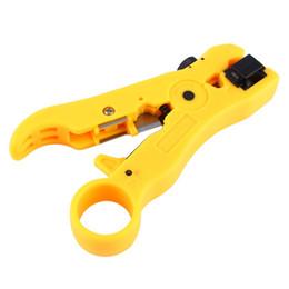 Canada Livraison gratuite 10 pcs Nouvelle Arrivée Rotary Coaxial Câble Coaxial Coupe-Fil Stripping Outil RG59 RG6 RG7 RG11 Stripper Offre