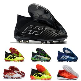 High Quality Soccer Cleats Predator 18+ 18.1 FG Football Shoes Wholesale  Mens Predator 19.3 IC TF Soccer Boots Indoor Big Order Dropshipping 342316343