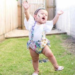 baberos grandes para bebés Rebajas Emmababy Summer Little Sister Match Big Sister Kids Baby Girls Floral Shirt Tops Bib Shorts BIg Sis Floral Dress Outfit Ropa