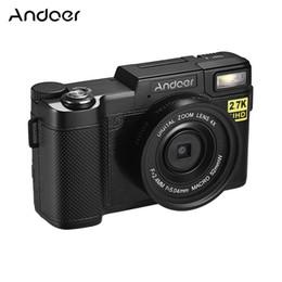 домашнее видео скрытая шпионская камера Скидка Andoer Full HD 24-мегапиксельная видеокамера Cam Camder 2.7K Разрешение 3,0 дюйма Вращающийся TFT-экран Против дрожания 4X Цифровая видеокамера