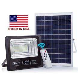 2019 altavoces con energía solar Luz al aire libre Luces solares LED Potencia 30W 50W 60W 100W Luz de inundación bluetooth Altavoz IP65 Impermeable Ahorro de energía altavoces con energía solar baratos