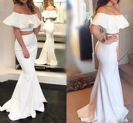 2019 robes de bal sexy sirène de bal en deux pièces, plus la taille robes de soirée en satin, longueur de plancher simples robes de bal ? partir de fabricateur