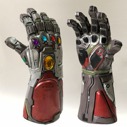 toy irons Coupons - 2 Color Avengers 4 Endgame Thanos Iron Man gloves 2019 New Children's adult Halloween cosplay Natural latex Infinity Gauntlet Toys B
