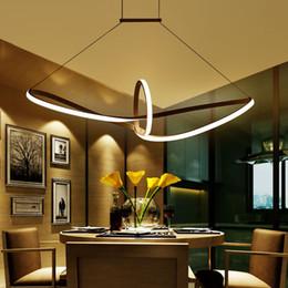 candelabros minimalistas Rebajas Minimalista moderno led luz colgante de aluminio Infinito Suspensión colgantes arañas para sala de estar iluminación interior AC90-265V