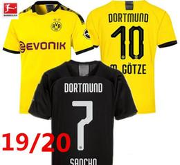 футбольная форма borussia Скидка новая футболка Borussia Dortmund GOTZE REUS 19/20 BVB футболка с новым HOME camiseta de futbol майка BVB футболка