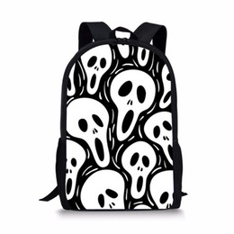 Zaini scuola teschi online-Skull Zaino scuola per i ragazzi delle ragazze dei ragazzi Via rock punk donne quotidiana Bagpack uomini School Children Borse DropShipping