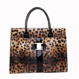 tote alaranjado por atacado Desconto Atacado-Leopard Top-handle Sacos Para Senhora Do Escritório de Luxo Bolsas Mulheres Sacos De Designer Tote Bag sac a principal femme de marque luxe cuir 2016