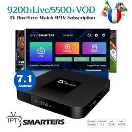streaming-sportarten Rabatt TX3 Mini-Android-TV-Box mit kostenlosem IPTV-Abonnement Frankreich Großbritannien Schweden AU Indien Holland Latino Sports Portugal Spanien Live-TV-Streaming-Box